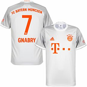 20-21 Bayern Munich Away Shirt + Gnabry 7 (Official Printing)