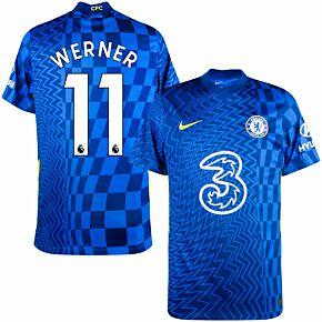 21-22 Chelsea Home Shirt + Werner 11 (Premier League)