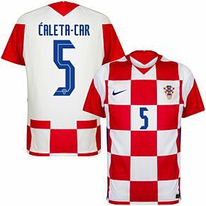 20-21 Croatia Home Shirt + Ćaleta-Car 5 (Official Printing)