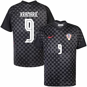 20-21 Croatia Away Shirt + Kramarić 9 (Official Printing)