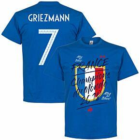 France Champion du Monde Griezmann 7 Tee - Royal