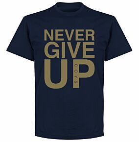 Never Give Up Spurs Tee - Navy/Gold