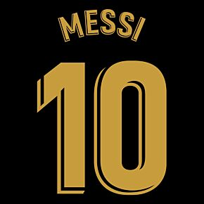 Messi 10 (Official La Liga Printing) - 20-21 Barcelona Away KIDS