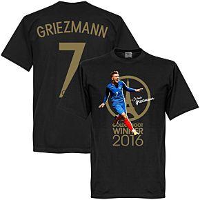 Je Suis Griezmann France 2016 Golden Boot Winner Tee - Black