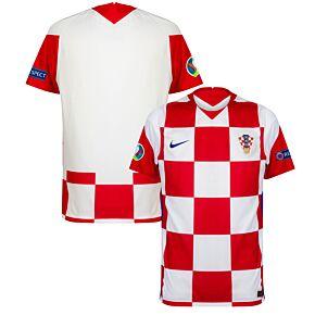 20-21 Croatia Home Shirt + Euro 2020 + Respect Patches