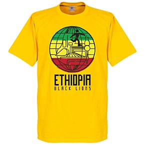 Ethiopia Black Lions Tee - Yellow