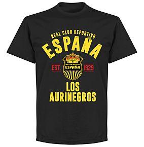 Real Club Deportivo Espana Established T-shirt - Black