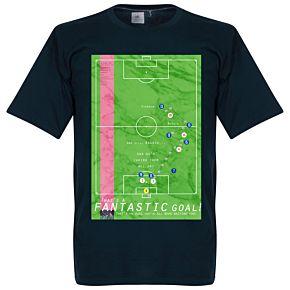 Pennarello Roberto Baggio 1990 Classic Goal Tee - Navy