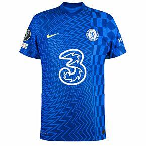 21-22 Chelsea Dri-Fit ADV Match Home Shirt + UCL Titleholder Trophy + UEFA Foundation Patches