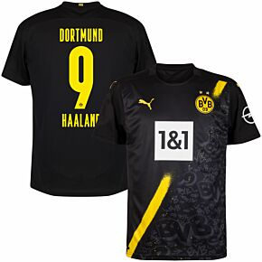 20-21 Borussia Dortmund Away Shirt + Haaland 9 (Official Printing)