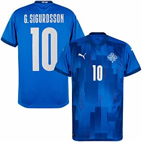 20-21 Iceland KSI Home Shirt + G.Sigurdsson 10 (Official Printing)
