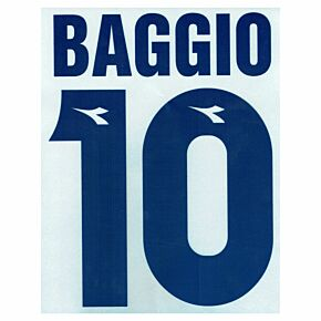 Baggio 10 - 97-98 Bologna Away Flock Name and Number Transfer
