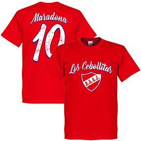 Los Cebollitas Maradona 10 Tee - Red