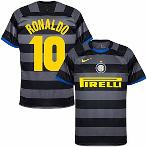 20-21 Inter Milan 3rd Shirt + Ronaldo 10 (Retro Fan Style)