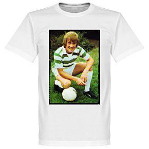 Dalglish Celtic Retro Tee - White