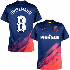 21-22 Atletico Madrid Away Shirt + Griezmann 8 (Official Printing)
