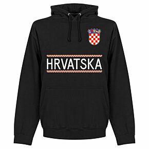 Croatia Team Hoodie - Black