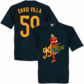 David Villa 59 Goals Tee - Navy