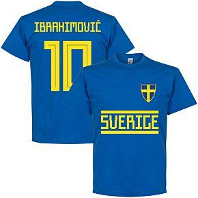Sweden Ibrahimovic 10 Team Tee - Royal