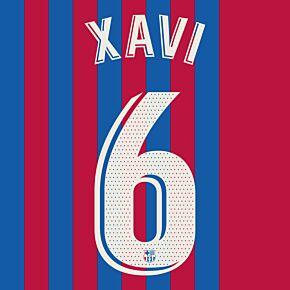 Xavi 6 (Official Printing) - 21-22 Barcelona Home