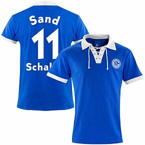 FC Schalke 04 1950's Retro Shirt + Sand 11 (Retro Flock Printing)
