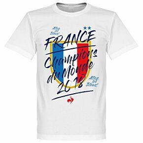 France Champion du Monde Tee - White
