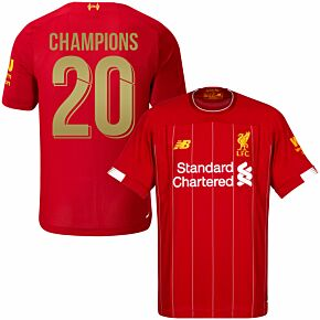 19-20 Liverpool Home Shirt + Champions 20