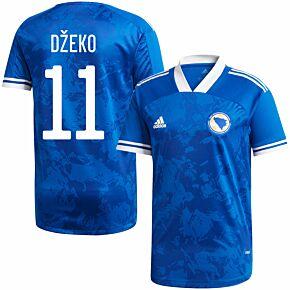 20-21 Bosnia and Herzegovina Home Shirt + Džeko 11 (Official Printing)
