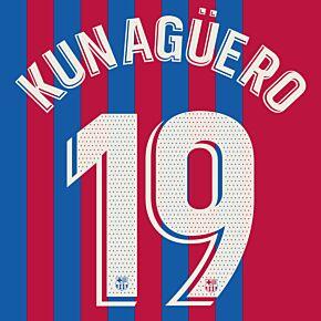 Kun Agüero 19 (Official Printing) - 21-22 Barcelona Home
