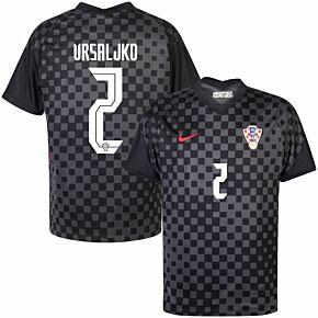 20-21 Croatia Away Shirt + Vrsajlko 2 (Official Printing)