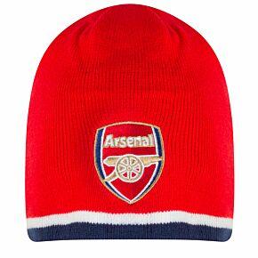 Arsenal Rversible Beanie Hat - Red/Navy