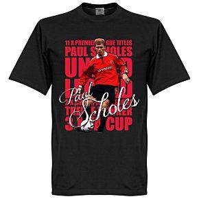 Paul Scholes Legend T-shirt - Black
