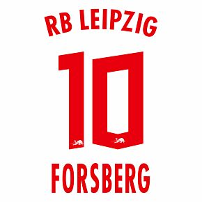 Forsberg 10 (Official Printing) - 20-21 RB Leipzig Home