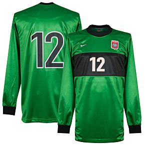 Nike Poland 1998-1999 Home Goalkeeper Jersey L/S NEW Condition No.12 Player Issue