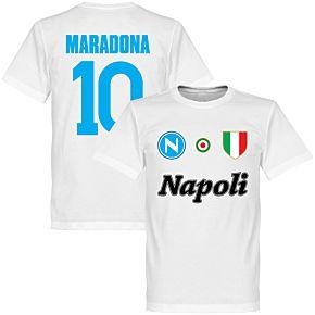 Napoli Maradona 10 KIDS Team T-Shirt - White