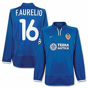 00-01 Valencia 3rd C/L L/S Jersey + F. Aurelio No. 16 - Players