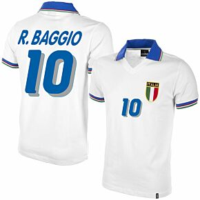 1982 Italy Away Shirt + R.Baggio 10 (1994 Retro Flex Printing)