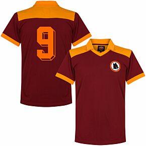 1980 AS Roma Retro Shirt + No.9 (Pruzzo)