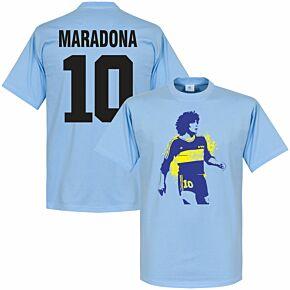 Boca Maradona No. 10 Tee - Sky