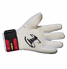 Jerzy Dudek Signed GK GloveUmbro White/Red