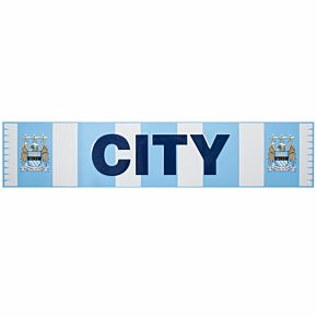 Manchester City Bar Scarf Metal Sign (40 x 18cm)