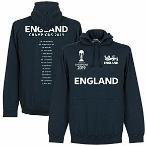 England Cricket World Cup  Winners Squad  Hoodie - Navy