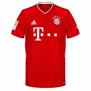 20-21 Bayern Munich Home Shirt + Bundesliga Champions Patch