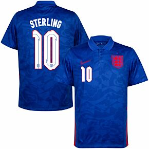 20-21 England Away Shirt + Sterling 10 (Official Printing)