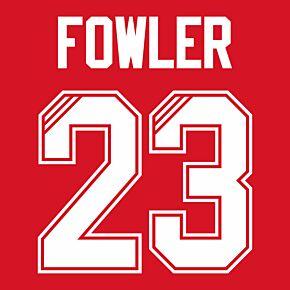 Fowler 23 (Retro Flock Printing) 95-96 Liverpool Home