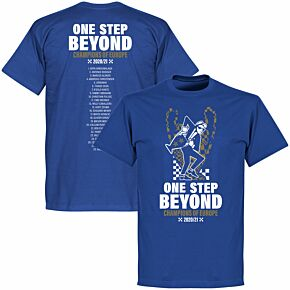 Chelsea Champions of Europe Squad T-shirt - Royal