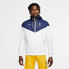 20-21 Tottenham Authentic Windrunner Jacket - White/Navy