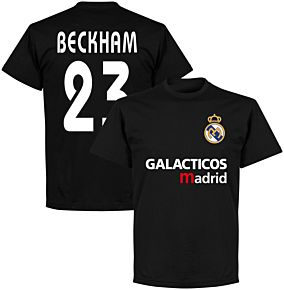 Galácticos Madrid Beckham 23 Team T-shirt - Black