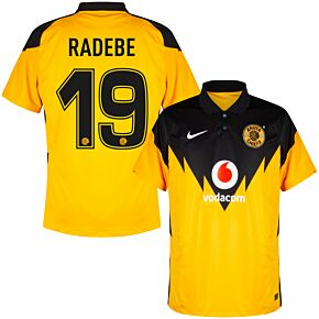 20-21 Kaizer Chiefs Home Shirt + Radebe 19 (Fan Style Printing)
