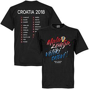Croatia Mala zemlja, Veliki snovi Squad Tee - Black